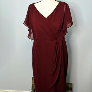 Azazie 14 Burgundy Flirty Dress